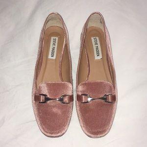 Pink Satin Flats